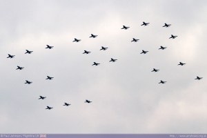 'EIIR' Formation overhead Windsor Castle