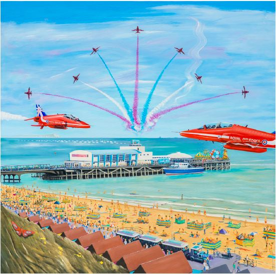 WOW - By David Bent The Official Artist in Residence, Bournemouth Air Festival 2014