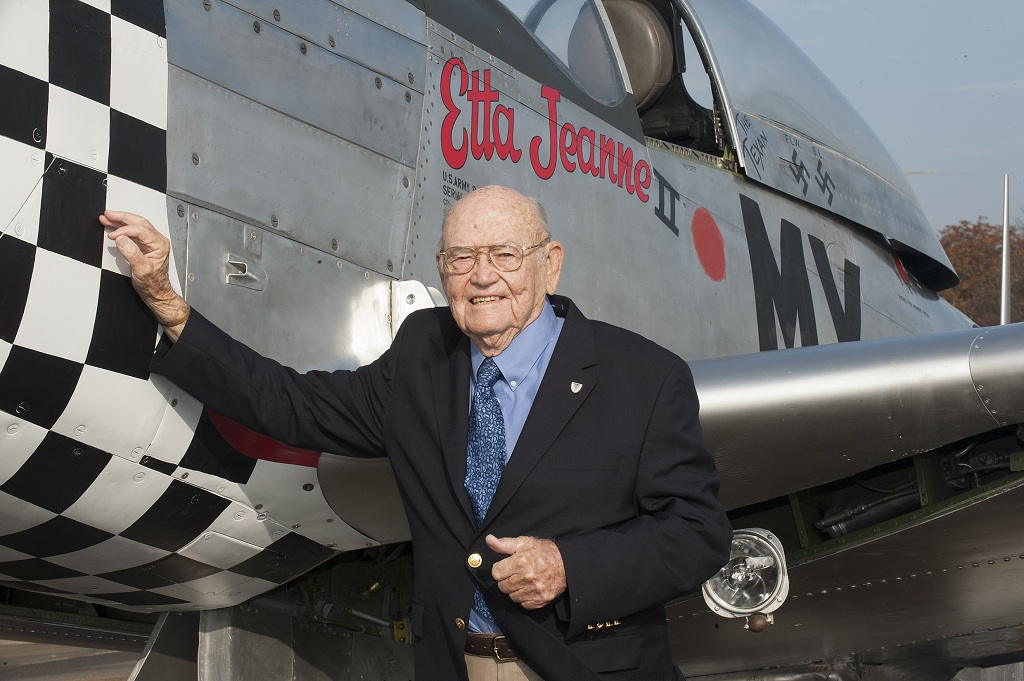 Second World War US veteran ace airman unveils aircraft telling his story