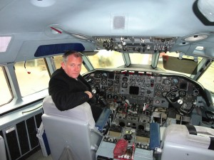 Sir Kevin Leeson in the cockpit of XR808.