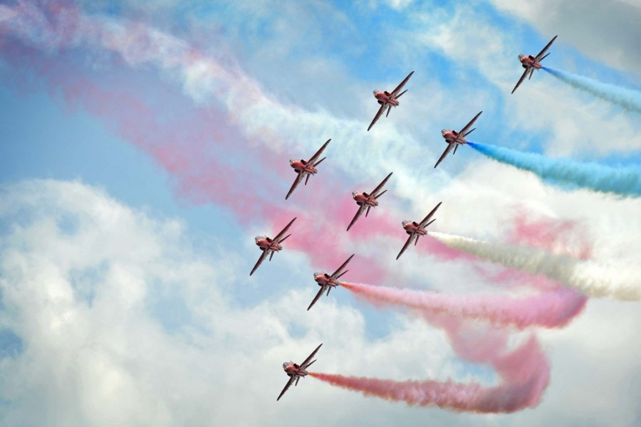 Red Arrows - Crown Copyright