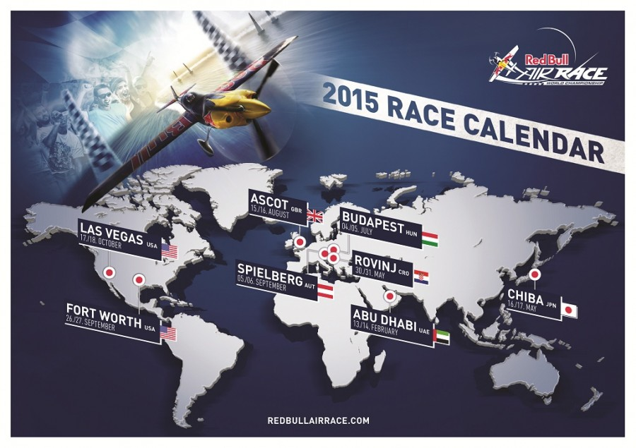Revised Red Bull Air Race 2015 Calendar