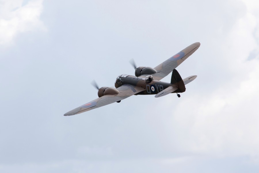 The Bristol Blenheim takes to the skies. Image copyright IWM.