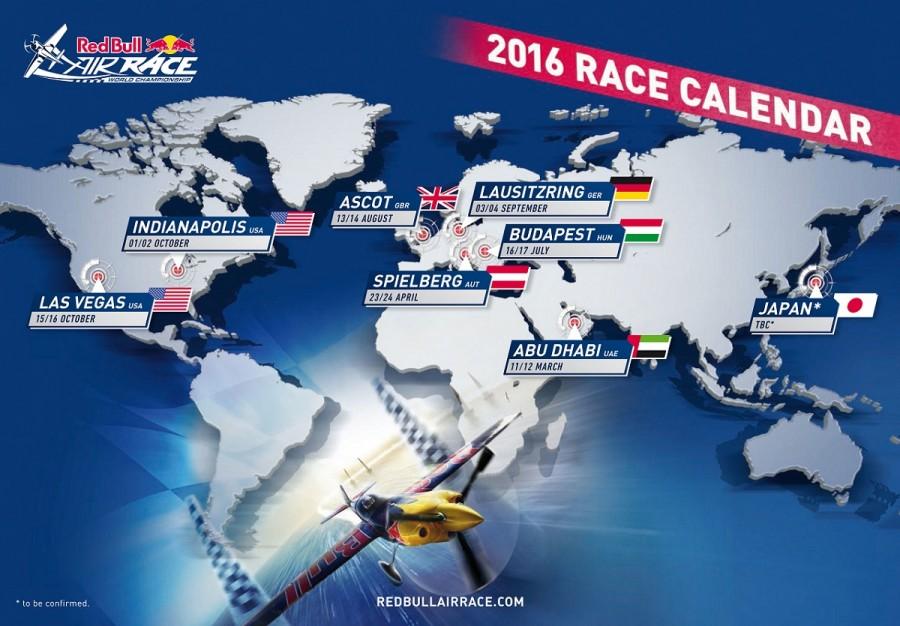 Red Bull Air Race World Series Calendar 2016