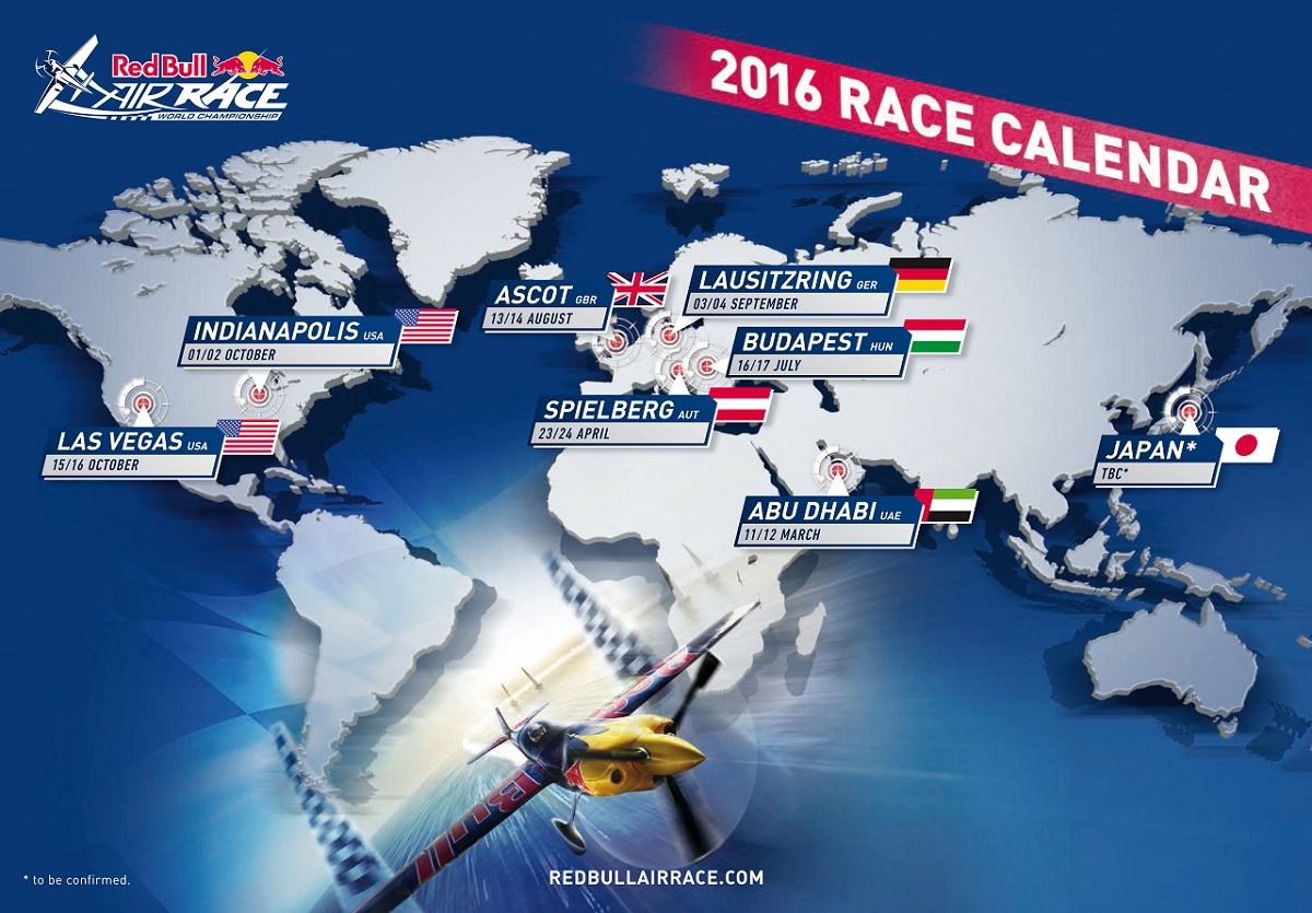 RED BULL AIR RACE: Red Bull Air Race 2016 Calendar Announced With New locations in Germany and U.S.
