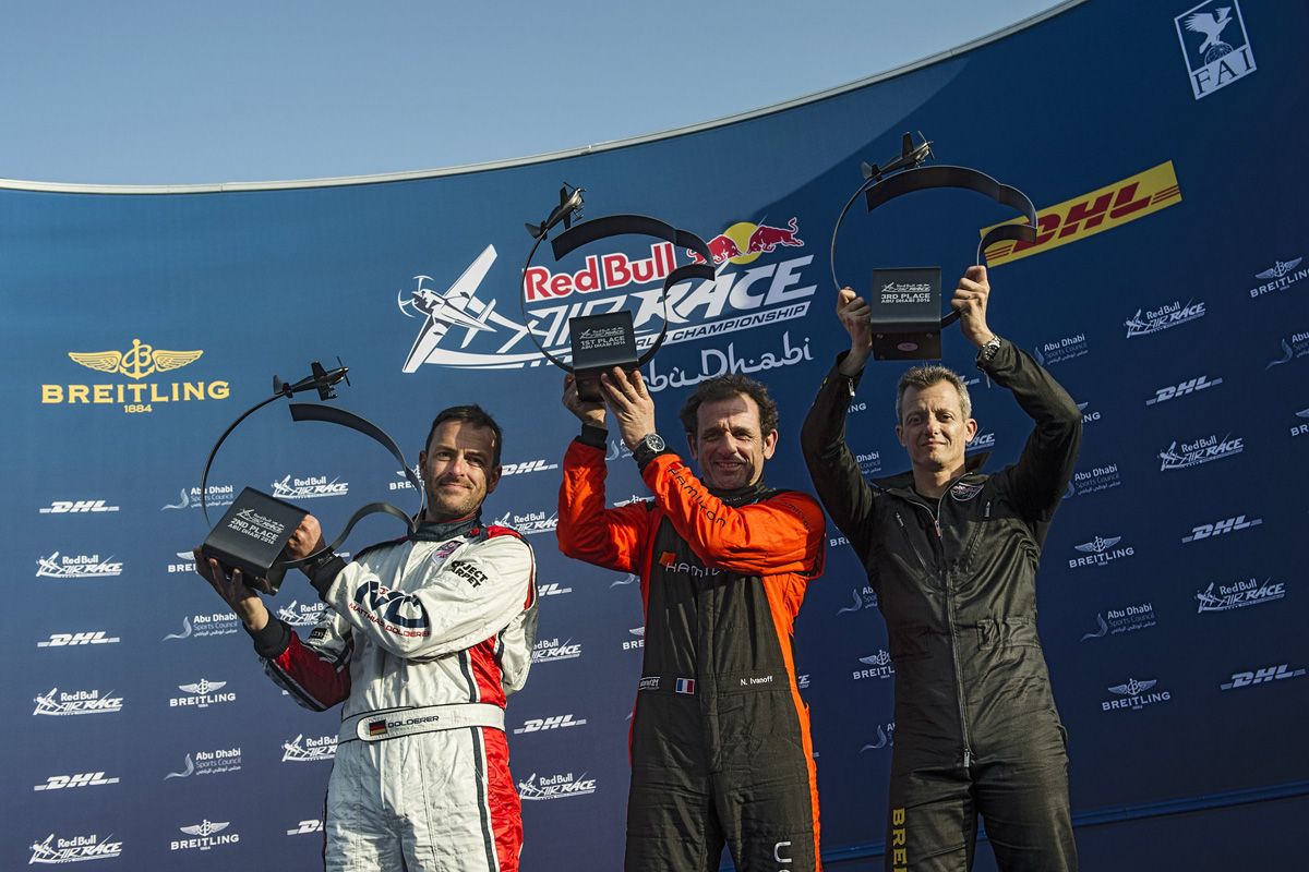 RED BULL AIR RACE: Nicolas Ivanoff of France wins wild season opener in Abu Dhabi