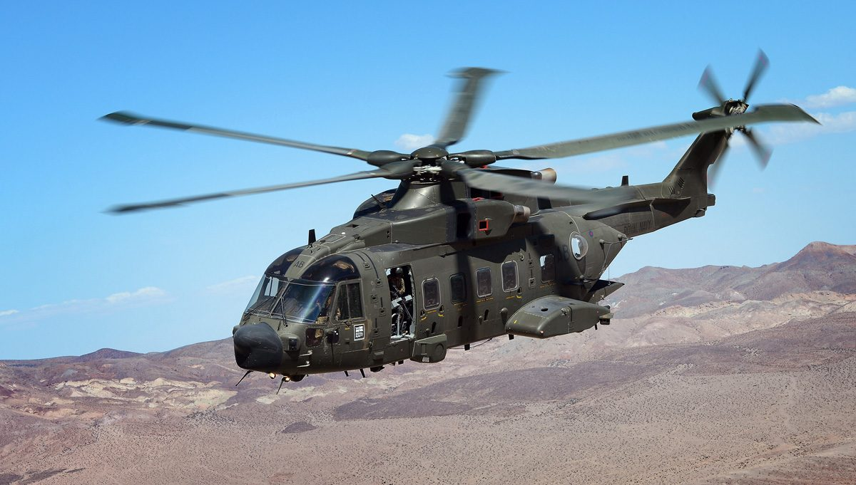 Royal Navy Merlin iHC3 - Crown Copyright