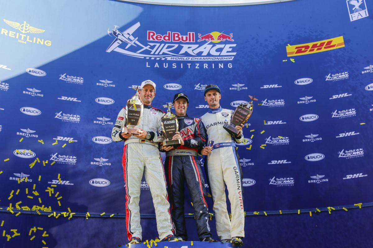 RED BULL AIR RACE: Australian pilot Hall snatches second win in a row with victory at EuroSpeedway Lausitz
