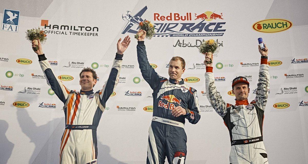RED BULL AIR RACE: Šonka takes maiden Air Race win in Abu Dhabi